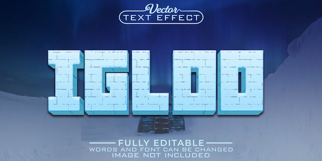 Modelo de efeito de texto editável igloo