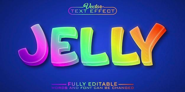 Modelo de efeito de texto editável jelly colorido