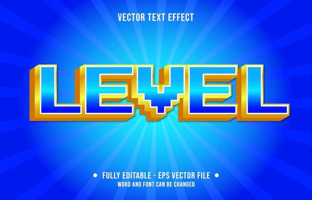 Modelo de efeito de texto editável nível retro ação gradiente cor estilo premium