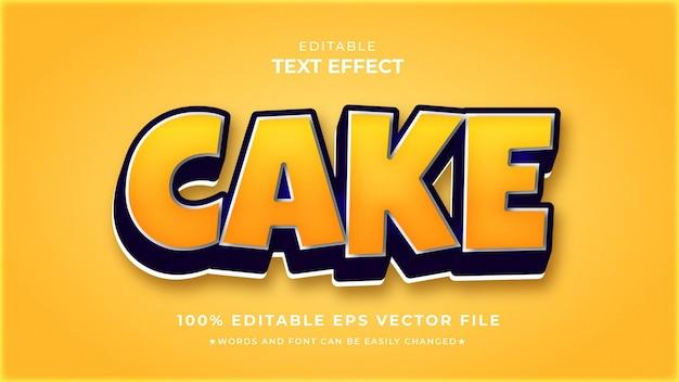 Modelo de efeito de texto editável para bolo