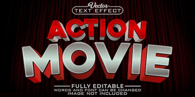 Modelo de efeito de texto editável para filme de ação