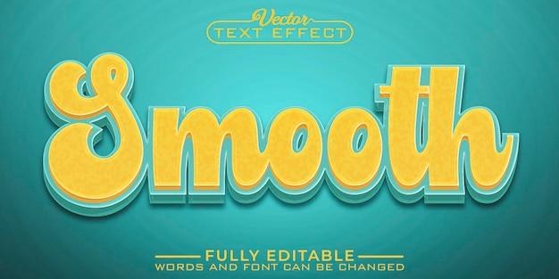 Modelo de efeito de texto editável suave
