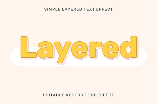 Modelo de efeito de texto em camadas editável