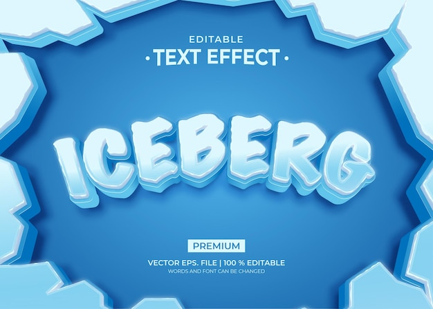 Modelo de efeito de texto iceberg