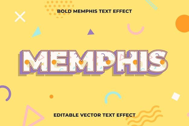 Modelo de efeito de texto memphis editável