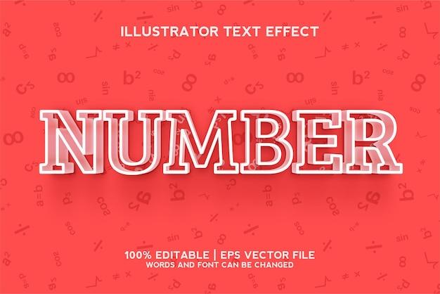 Modelo de efeito de texto numérico