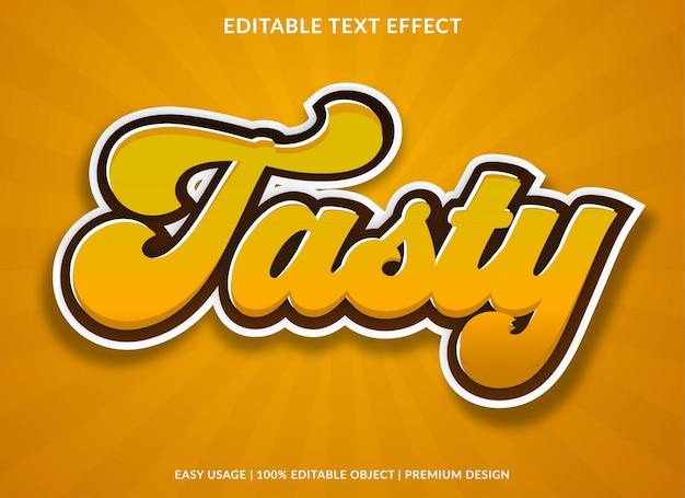 Modelo de efeito de texto saboroso com estilo retrô