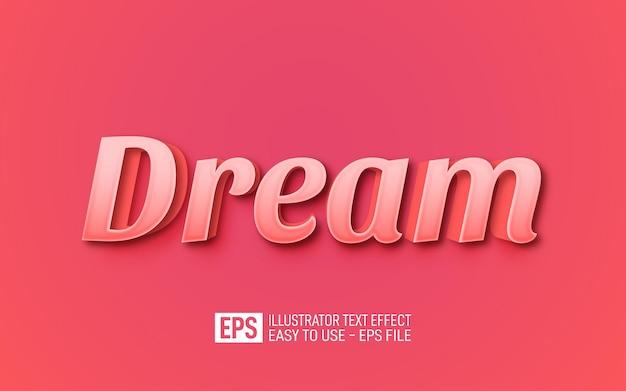 Modelo de efeito editável de texto dream 3d