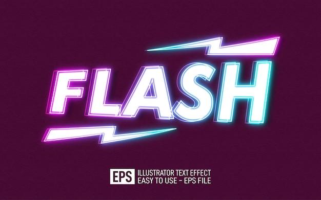 Modelo de efeito editável de texto em flash 3d