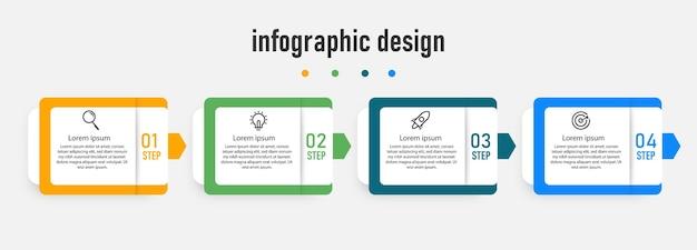 Modelo de elemento de design de infográfico criativo