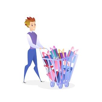 Modelo de elemento de design de site de compras on-line