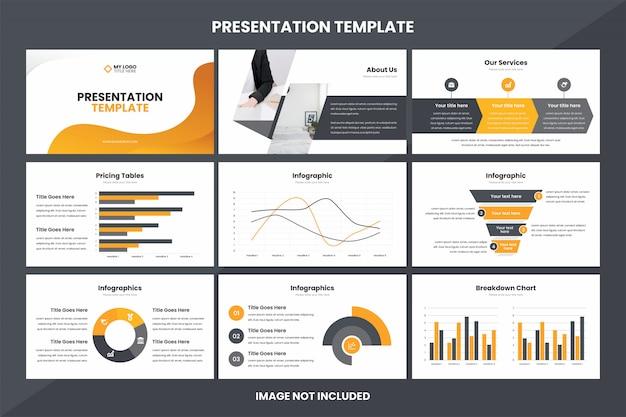 Modelo de elemento de infográfico de apresentação de negócios