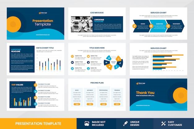 Modelo de elemento de infográfico de design de apresentação de negócios