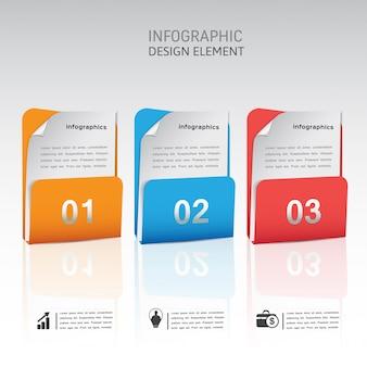 Modelo de elemento moderno infográfico abstrato