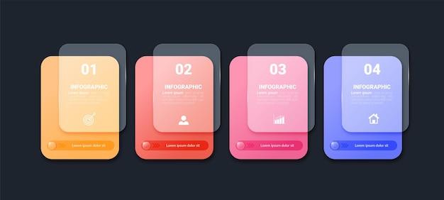 Modelo de elementos de infográfico colorido