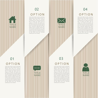 Modelo de elementos de infográfico de conceito de dobradura de papel moderno