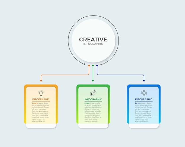 Modelo de elementos de infográfico de negócios