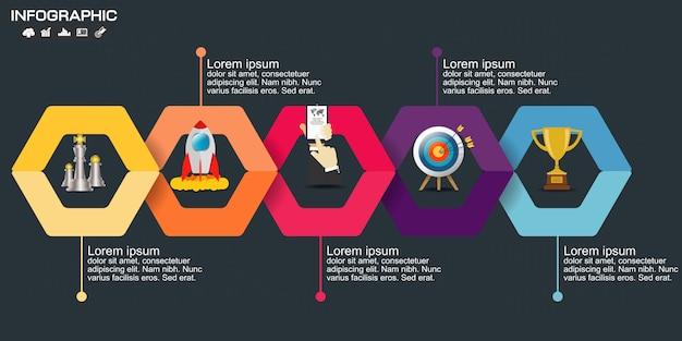 Modelo de elementos de infográfico de negócios.
