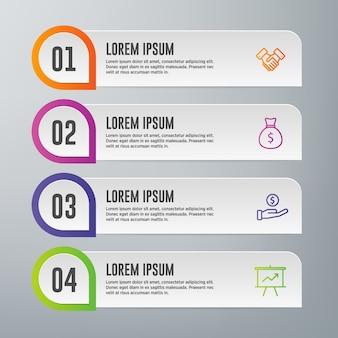 Modelo de elementos de infográfico
