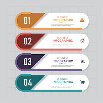 Modelo de elementos de infográficos de negócios.
