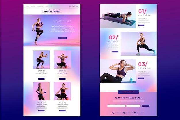 Modelo de email de fitness