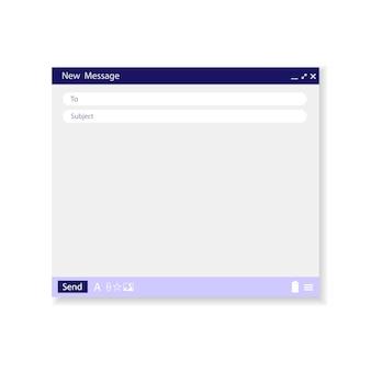 Modelo de email em branco. janela de email.