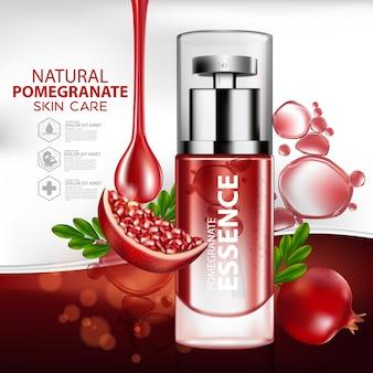 Modelo de embalagem cosmética para cosméticos de toranja e frutas cítricas