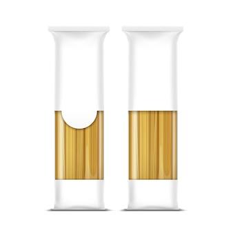 Modelo de embalagem de macarrão espaguete isolado