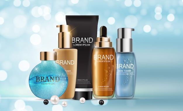 Modelo de embalagem de produtos cosméticos de design