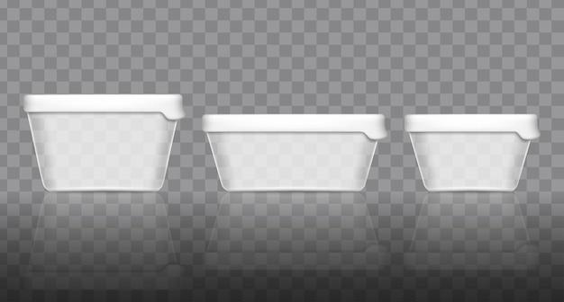 Modelo de embalagem do recipiente de iogurte.
