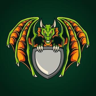 Modelo de emblema de dragão