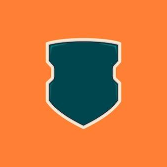 Modelo de emblema de escudo em branco de polícia futurista