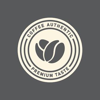 Modelo de emblema de logotipo de cafeteria