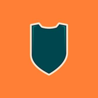 Modelo de emblema em forma de escudo em branco para logotipo ou qualquer finalidade na cor tosca