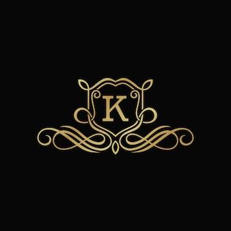 Modelo de emblema heráldico de luxo