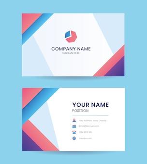 Modelo de empresa de cartão de visita