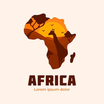 Modelo de empresa de logotipo de mapa da áfrica