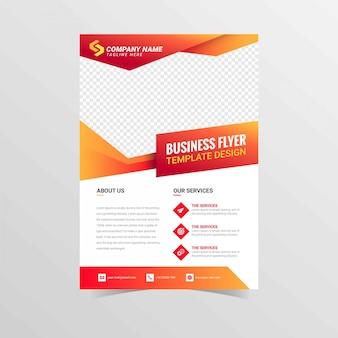 Modelo de empresa de negócios de panfleto