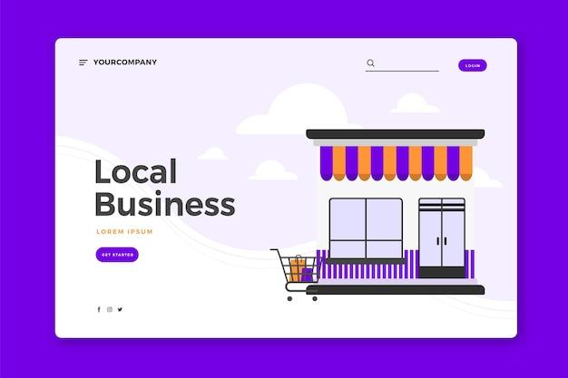 Modelo de empresa local da página de destino
