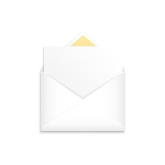 Modelo de envelope branco realista