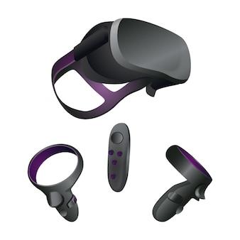 Modelo de equipamento de realidade virtual