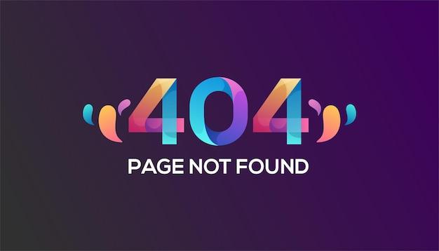 Modelo de erro 404 colorido