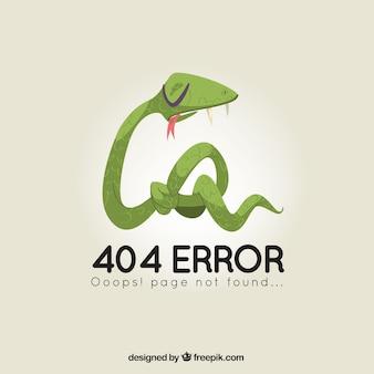 Modelo de erro 404 com estilo desenhado à serpente