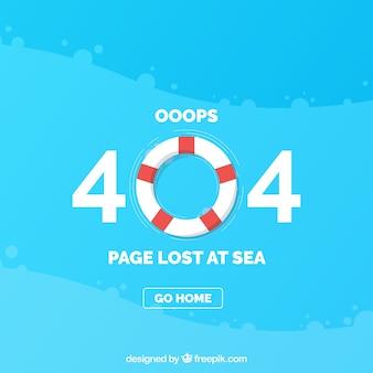 Modelo de erro 404 com o lifesaver em estilo plano