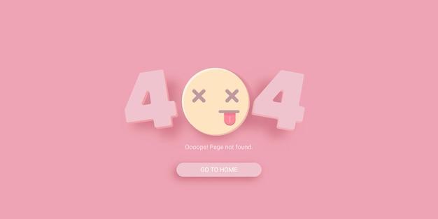 Modelo de erro 404 com rosto de sorriso morto
