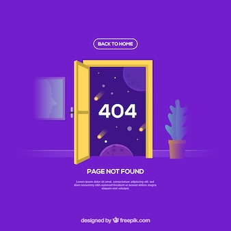 Modelo de erro 404 em estilo plano