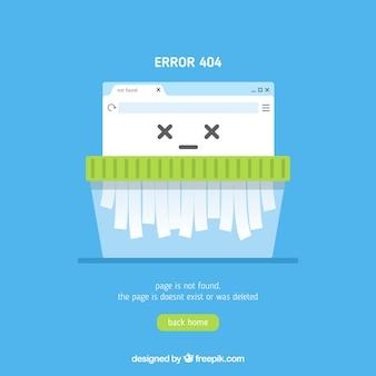 Modelo de erro 404 na web em estilo plano