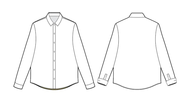 Modelo de esboço de moda para camisa formal