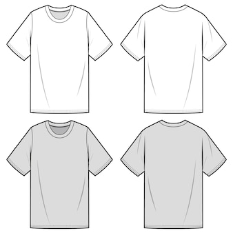 Modelo de esboço plana de moda t de sobrepeso