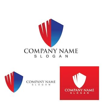 Modelo de escudo de vetor de design de logotipo de guarda de segurança